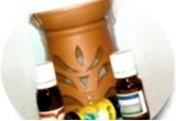 3 x set de aromoterapie (lampa de aromoterapie + trei uleiuri esentiale)