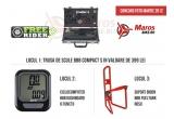 1 x trusa de scule BBB Compact S, 1 x Ciclocomputer BBB Dashboard cu 6 funcții, 1 x Suport bidon BBB FuelTank roșu
