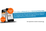 1 x telefon mobil Apple iphone 4S 16 GB black, 1 x telefon mobil Samsung Galaxy Note N7000 white