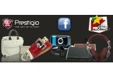 4 x geanta Prestigio pentru laptop, 2 x HDD USB, 2 x Memorie USB, 2 x pereche de casti, 4 x camera web
