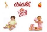 4 x premiu de la Bright Starts Romania(Cuburi Bright Starts pentru fetite sau Carticicele Little Outdoor Adventures Book pentru baieti)