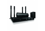 1 x Sistem DVD Home Theater cu boxe Angled, 1 x DVD Player portabil, 1 x Rama foto digitala, 1 x Boxe multimedia 2.1, 2 x Casti In-Ear, 2 x Casti HiFi fara fir, 2 x Radio cu ceas