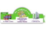 1 x Weekend pentru 2 pers la AQUA PARC BRASOV, 840 x Punga de SNAX 150 grame, 6 x Consola WII, 50 x 2 pungi SNAX 150 grame