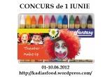 1 x set de 12 creioane de machiat + o trusa de desen (+4 ani) + 2 carticele de povesti in limba franceza (board-book)