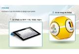 1 x un iPad cu Wi-Fi+4G 16GB, 30 x minge de fotbal