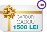 200 x detector de gaz metan și monoxid de carbon, 20 x card cadou in valoare de 1000 ron, 10 x card cadou in valoare de 1500 ron