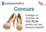1 x voucher de 200 RON pentru cei mai frumosi pantofi