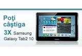 3 x tableta Samsung Galaxy Tab2 10, 5 euro in puncte de loialitate zilnic pentru fiecare gol inscris in ziua anterioara la Campionatului EURO 2012