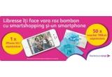 5 x iPhone 4S 16 GB alb, 250 x voucher de cumparaturi in reteaua de magazine Douglas in valoare de 100 RON