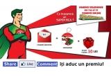 1 x bon-cadou in valoare de 150 RON, 1 x bon-cadou in valoare de 100 RON, 1 x bon-cadou in valoare de 50 RON