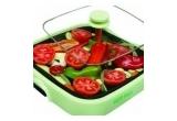 1 x tigaie multifunctionala Hot Pan, 1 x tigaie Dry Cooker, 1 x Chopper, 1 x 2 seturi tacamuri 8 bucati, 1 x Set green plate, 3 x set culinar.ro (carte, lingura de lemn, sort de bucatarie)