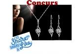 1 x set de bijuterii cu cristale in stil Swarovski