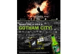 90 x tricou The Dark Knight Rises TM, 1 x replica oficiala a mastii high tech a lui Batman, 1 x excursie pentru doua persoane 6 zile la Los Angeles incluzand un tur VIP al studiourilor Warner Bros