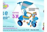 3 x jucarie marca Bertoni, 3 x tricicleta Bertoni