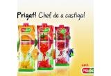 80 x pachet Prigat Portocale 100% (3buc) + Prigat Mere Rosii 100% (3buc)