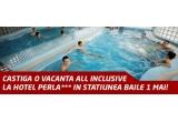 """1 x vacanta All Inclusive pentru 2 persoane la Hotel Perla 3* in statiunea Baile 1 Mai, 10 x sepcuta """"Masini.ro"""""""