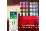 1 x telefon mobil dual-sim, 1 x trusa de machiaj cu 120 de culori