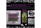 1 x rama foto digitala, 1 x husa iPhone 4/4S cu cristale Swarovski, 1 x pereche de casti, 1 x oglinda