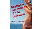 1 x vacanța de 7 nopți la un hotel de 5* All Inclusive in Antalya, 5 x voucher de 700 de lei valabil pentru tratamente corporale in oricare dintre centrele Cellulem Block, 5 x set de produse cosmetice profesionale in valoare de 250 de lei