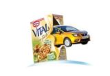 91 x set pentru micul dejun in familie de la Musli Vitalis, 13 x bicicleta, 1 x autoturism Seat Ibiza Reference