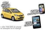 10 x autoturism Skoda Citigo Ambition MPI, 135 x tableta Samsung Galaxy Tab2 7.0, 270 x telefon smart Vodafone II, 42.000 x sacosa Praktiker, 500 x umbrela, 4.500 x cartela Orange PrePay cu 5 Euro credit, 350 x gentuta de umar, 150 x breloc, 400 x lanterna, 1000 x bricheta, vouchere de reducere 5-15% sau cupoane de cumparaturi 10, 15 sau 20 ron