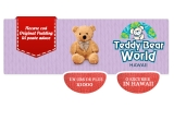 1000 x Ursulet de plus cu insigna, 1 x Excursie la Teddy Bear World Hawaii, SUA + 1000 ron