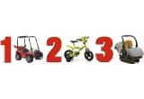 1 x Masinuta Buggy cu telecomanda, 1 x Bicicleta Ben 10 - 12inch, 1 x Scaun auto Nano Fortune