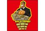 1 x card bancar cu suma de 100.000 RON, 1 x card bancar cu suma de 50.000 RON, 215 x 100 RON zilnic