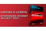 1 x o licența Bitdefender Internet Security 2013
