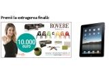 1 x un voucher Rovere Mobili de 10.000 Euro, 3 x iPad, 12 x televizor LED full HD, 12 x camera video, 12 x aparat foto digital