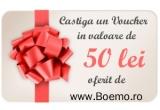 1 x voucher in valoare de 50 ron boemo.ro