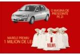 61 x autoturism Dacia Logan, 1 x marele premiu de 1.000.000 RON