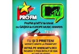 1 x 4 bilete de acces la Premiile Europe Music Awards de la Frankfurt + cazare si transport
