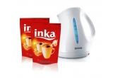4 x un fierbator electric + doua pachete de 180 g de Inka, 6 x doua pachete de 180 g de Inka