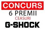 6 x premiu constand in ceasuri G-SHOCK