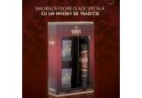 2 x sticla de whisky + 2 pahare Grant's sau sticla triunghiulara Grant's in cutie metalica