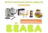 1 x un Robot Beaba Babycook Roz, 1 x Set Beaba 4 Recipiente ermetice pentru hrana, 1 x Beaba Set 6 lingurite si 4 furculite, 1 x Cantar de bucatarie Babycook