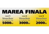 1 x voucher pentru echipament Nikon de 5000 RON, 1 x voucher pentru echipament Nikon de 3000 RON, 1 x voucher pentru echipament Nikon de2000 RON, 12 x premiu lunar Nikon