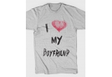 2 x 2 tricouri I love my girlfriend + I love my boyfriend sau 2 x un tricou I love Me + un sticker pentru telefon