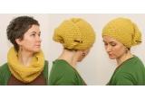 1 x un guler-turban tricotat de la atelier44