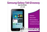 1 x o tableta Samsung GALAXY Tab 2 sau contravaloarea acesteia via PayPal sau Amazon