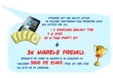 3 x 3000 eur, 4 x Tableta Samsung Galaxy Tab, 20 x iPod Shuffle, 80 x Pachete cu Produse TUC