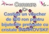 1 x voucher de 300 ron pentru bijuteriile tale preferate cu cristale SWAROVSKI