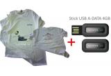 5 x tricou inscriptionat cu un mesaj legat de evenimentul Earth Hour + stick de memorie de 4G