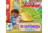 1 x Lego Duplo Clinica Doctorului + o papusa Doctorita Plusica, 4 x trusa Doctorita Plusica + o jucarie de plus vorbitoare (Stuffy sau Lambie), 4 x jucarie de plus vorbitoare – Lambie sau Stuffy