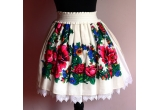 1 x o fusta cu imprimeu basma tradiționala creata de Gabriela Atanasiu