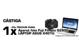 1 x laptop ASUS + 50 puncte, 1 x aparat foto Fuji Finepix S2800 + 30 de puncte, 10 x tricou pentru femei + 10 de puncte, 10 x tricou pentru barbati + 10 de puncte