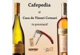 1 x o sticla de vin Colocviu Tamaioasa Romaneasca, 1 x o sticla de vin Busuioaca de Bohotin Domenii, 1 x tirbuson de calitate
