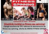 1 x Vouchere de 75% reducere la abonamentul de fitness sau spinning