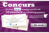 10 x voucher ce contine reduceri si gratuitati la JW Marriott Bucharest Grand Hotel